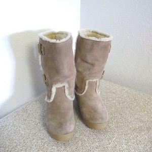 Tory Burch Tan Suede Lined Boots